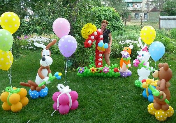 Оформление дня рождения воздушными шарами